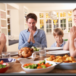 Family Praying Before Meal