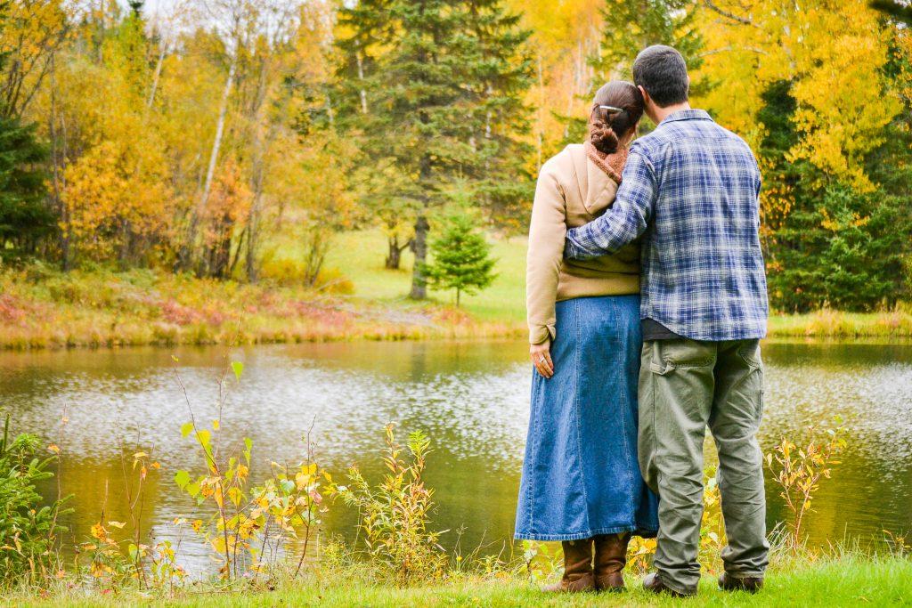 Husband and Wife by Lake